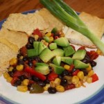 Black Bean Stir-fry w/ Tortilla Chips
