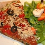 "Flatbread Pizza with Macadamia Nut ""Cheese"""