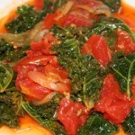 Kale with Tomatoes and Onions