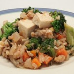 Sesame Vegetables w/ Rice and Tofu