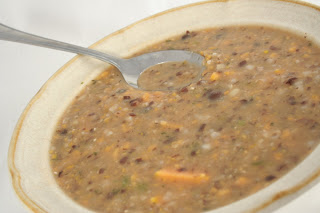 rice, bean, and sweet potato soup