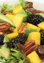 Blackberry, Avocado, and Mango Salad