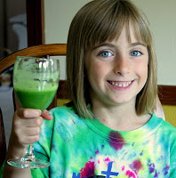 belle with green juice