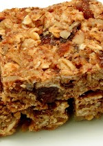 apricot-nut breakfast bar trio stack
