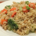 Brown Rice Stir-fry w/ Orange Sauce