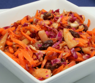 cinnamon-raisin carrot salad