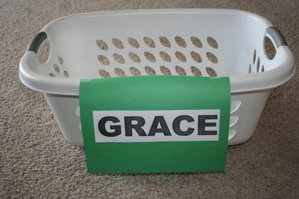 Grace in a Laundry Basket